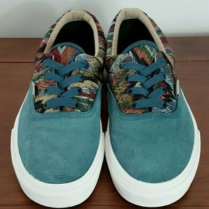 Vans suede and damask